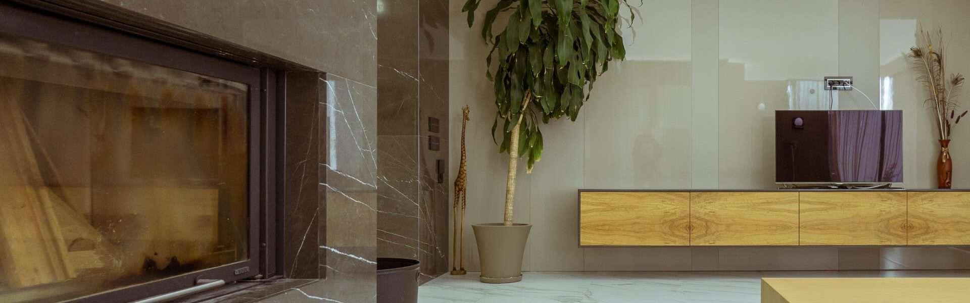 модерен хол интериорна фотография